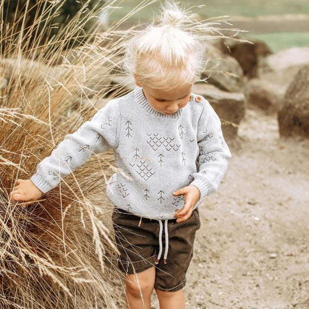 Wild Island Co Kids jumper for boys + girls, Wild Island knitted pullover, Grey(1-8Y) Kids and Adults Quality Clothing Designed in Tasmania Australia 10