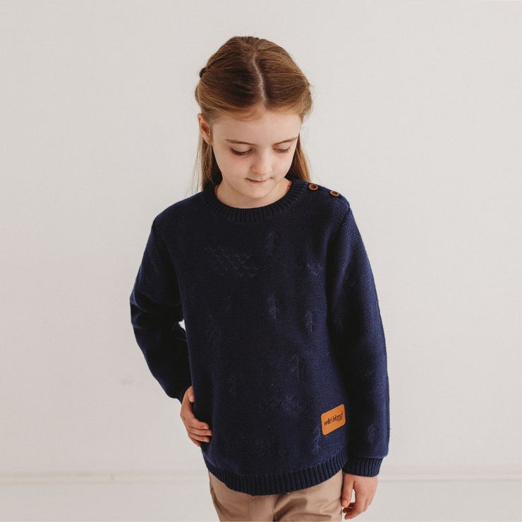 Wild Island Co Knitted Kids jumper for boys + girls, Wild Island, Navy Blue (1-8Y) Kids and Adults Quality Clothing Designed in Tasmania Australia 10