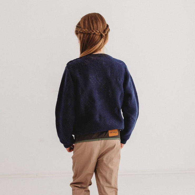 Wild Island Co Knitted Kids jumper for boys + girls, Wild Island, Navy Blue (1-8Y) Kids and Adults Quality Clothing Designed in Tasmania Australia 11