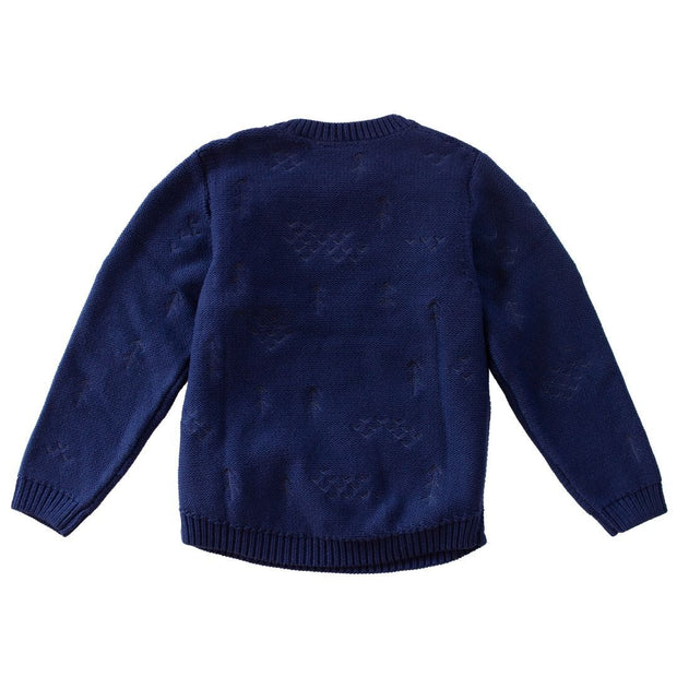 Wild Island Co Knitted Kids jumper for boys + girls, Wild Island, Navy Blue (1-8Y) Kids and Adults Quality Clothing Designed in Tasmania Australia 3