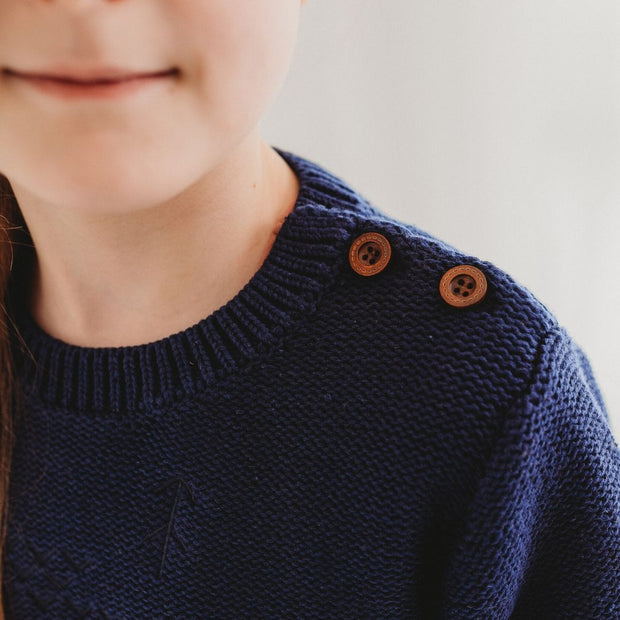 Wild Island Co Knitted Kids jumper for boys + girls, Wild Island, Navy Blue (1-8Y) Kids and Adults Quality Clothing Designed in Tasmania Australia 5