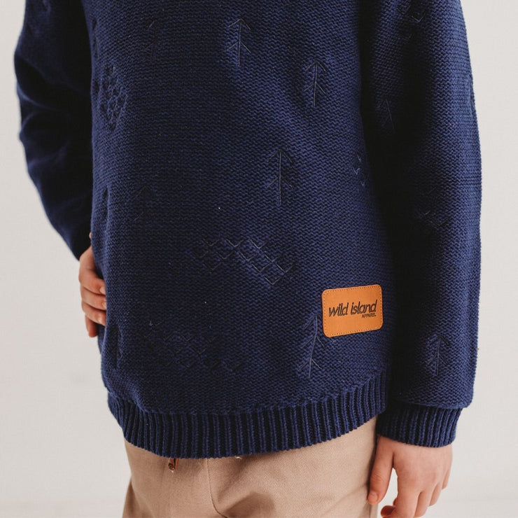 Wild Island Co Knitted Kids jumper for boys + girls, Wild Island, Navy Blue (1-8Y) Kids and Adults Quality Clothing Designed in Tasmania Australia 6