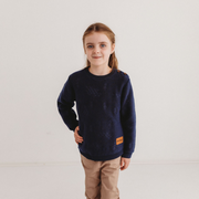 Wild Island Co Knitted Kids jumper for boys + girls, Wild Island, Navy Blue (1-8Y) Kids and Adults Quality Clothing Designed in Tasmania Australia 1