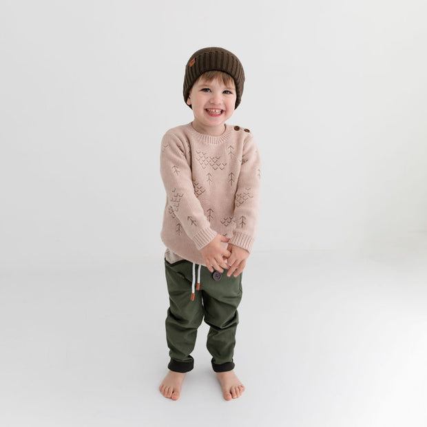 Wild Island Co Kids jumper for boys + girls, Wild Island knitted pullover, oat (1-8Y) Kids and Adults Quality Clothing Designed in Tasmania Australia 12