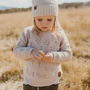 Wild Island Co Kids jumper for boys + girls, Wild Island knitted pullover, oat (1-8Y) Kids and Adults Quality Clothing Designed in Tasmania Australia 13