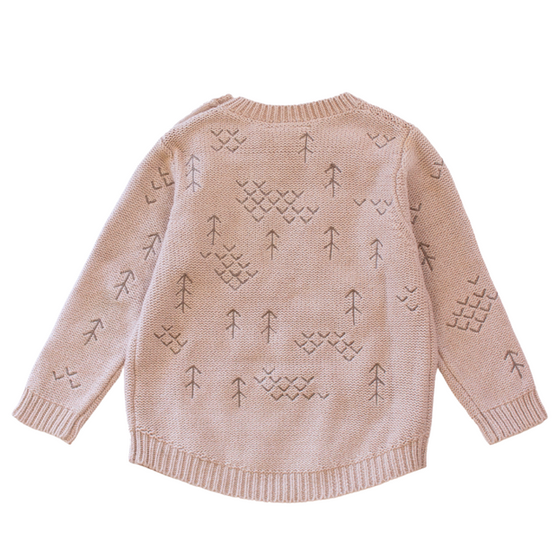 Wild Island Co Kids jumper for boys + girls, Wild Island knitted pullover, oat (1-8Y) Kids and Adults Quality Clothing Designed in Tasmania Australia 3