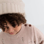 Wild Island Co Kids jumper for boys + girls, Wild Island knitted pullover, oat (1-8Y) Kids and Adults Quality Clothing Designed in Tasmania Australia 5