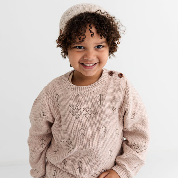 Wild Island Co Kids jumper for boys + girls, Wild Island knitted pullover, oat (1-8Y) Kids and Adults Quality Clothing Designed in Tasmania Australia 8