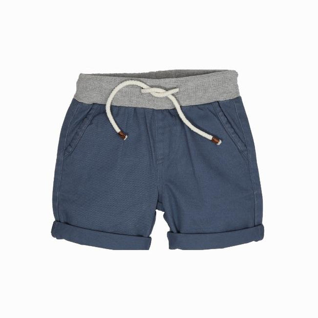 Wild Island Apparel | Sand Shaker Shorts | Spruce Blue | Built for sand dune rolling and barefoot exploring all summer long.  Featuring treasure storage pockets and elastic waist, these durable, comfortable and stylish kids shorts are available in 2 unisex colours, in sizes 2-8  #wildislandapparel