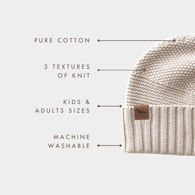 Wild Island Co Kids Beanie for boys + girls, cotton knit, Wild Island, Beech (2-9Y) Kids and Adults Quality Clothing Designed in Tasmania Australia 4