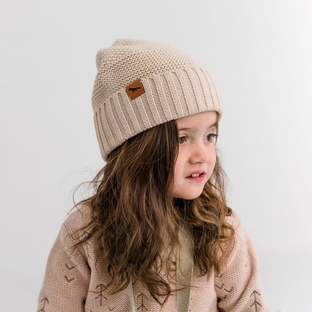 Wild Island Co Kids Beanie for boys + girls, cotton knit, Wild Island, Beech (2-9Y) Kids and Adults Quality Clothing Designed in Tasmania Australia 5