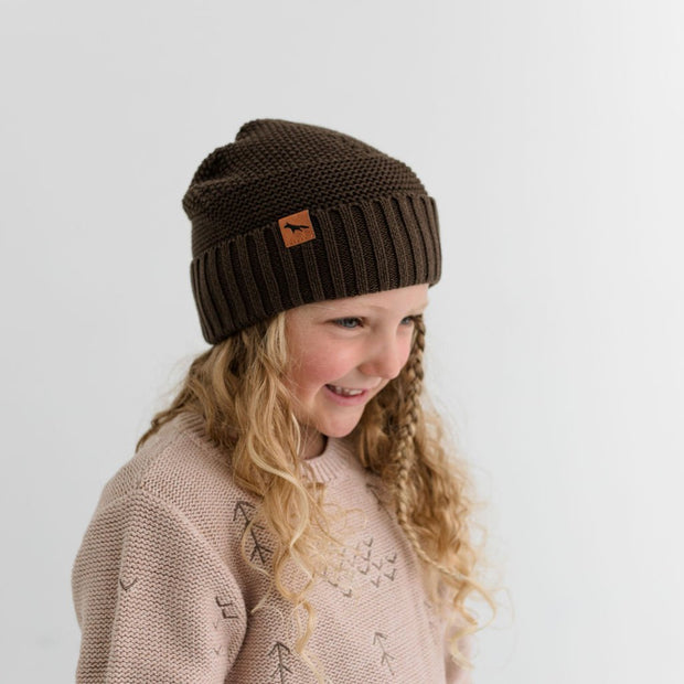 Wild Island Co Kids Beanie for boys + girls, Wild Island, cotton, Walnut Brown (2-9Y) Kids and Adults Quality Clothing Designed in Tasmania Australia 5