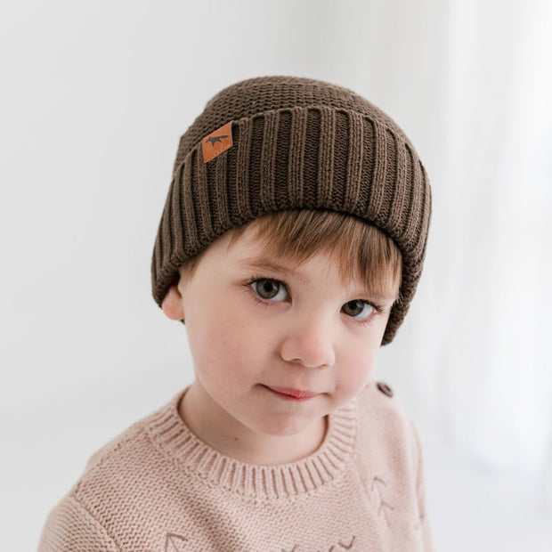 Wild Island Co Kids Beanie for boys + girls, Wild Island, cotton, Walnut Brown (2-9Y) Kids and Adults Quality Clothing Designed in Tasmania Australia 6