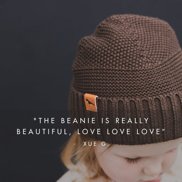 Wild Island Co Kids Beanie for boys + girls, Wild Island, cotton, Walnut Brown (2-9Y) Kids and Adults Quality Clothing Designed in Tasmania Australia 7