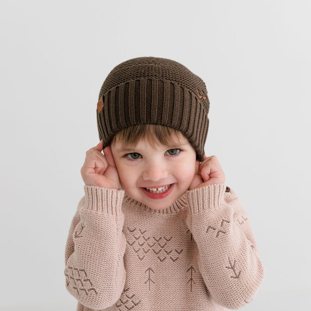 Wild Island Co Kids Beanie for boys + girls, Wild Island, cotton, Walnut Brown (2-9Y) Kids and Adults Quality Clothing Designed in Tasmania Australia 8