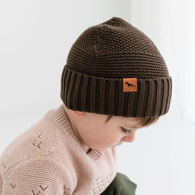 Wild Island Co Kids Beanie for boys + girls, Wild Island, cotton, Walnut Brown (2-9Y) Kids and Adults Quality Clothing Designed in Tasmania Australia 1
