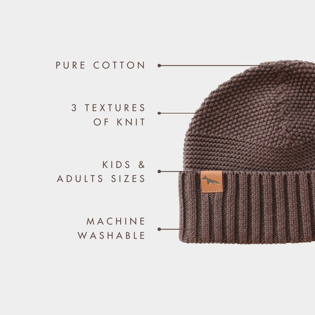 Wild Island Co Womens + Mens Beanie, 'The Summit' by Wild Island, Cotton,Walnut Brown Kids and Adults Quality Clothing Designed in Tasmania Australia 4