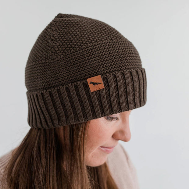 Wild Island Co Womens + Mens Beanie, 'The Summit' by Wild Island, Cotton,Walnut Brown Kids and Adults Quality Clothing Designed in Tasmania Australia 5