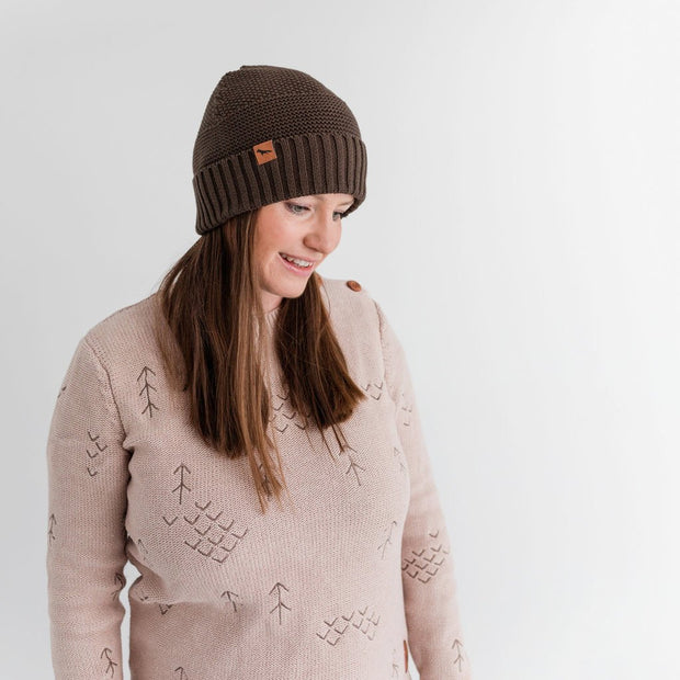 Wild Island Co Womens + Mens Beanie, 'The Summit' by Wild Island, Cotton,Walnut Brown Kids and Adults Quality Clothing Designed in Tasmania Australia 6