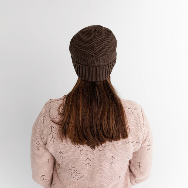 Wild Island Co Womens + Mens Beanie, 'The Summit' by Wild Island, Cotton,Walnut Brown Kids and Adults Quality Clothing Designed in Tasmania Australia 7