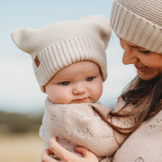 "Wild Island Co Knitted Baby Beanie ""Thylacine Beanie"" by Wild Island, beech (0-2Y) Kids and Adults Quality Clothing Designed in Tasmania Australia 10"