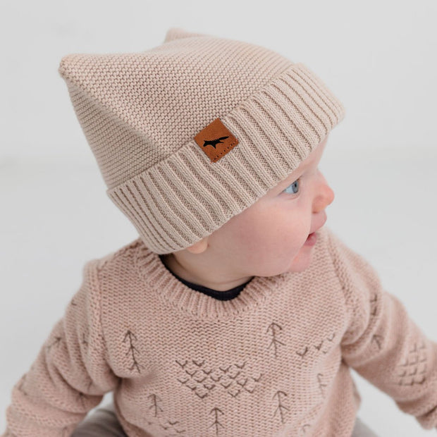 "Wild Island Co Knitted Baby Beanie ""Thylacine Beanie"" by Wild Island, beech (0-2Y) Kids and Adults Quality Clothing Designed in Tasmania Australia 6"