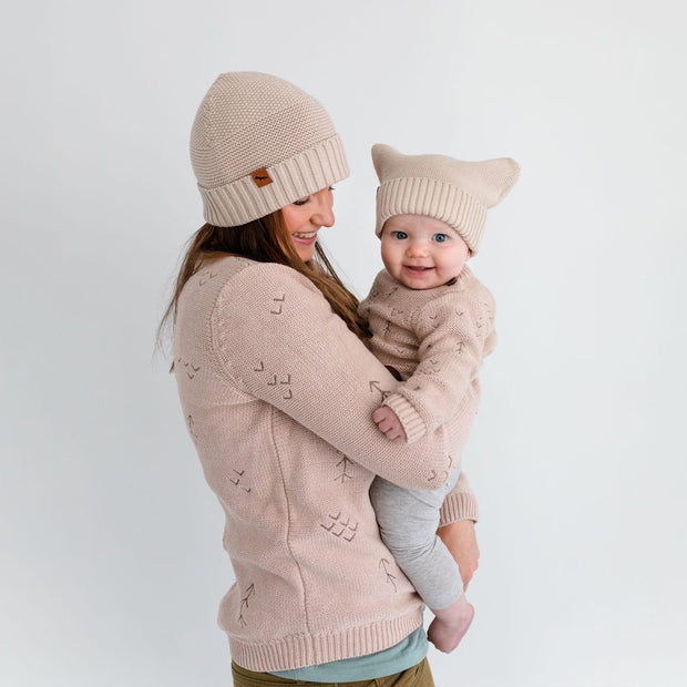 "Wild Island Co Knitted Baby Beanie ""Thylacine Beanie"" by Wild Island, beech (0-2Y) Kids and Adults Quality Clothing Designed in Tasmania Australia 9"