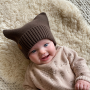 "Wild Island Co ""Thylacine"" Knitted Baby Beanie, Wild Island, walnut brown (0-2Y) Kids and Adults Quality Clothing Designed in Tasmania Australia 10"