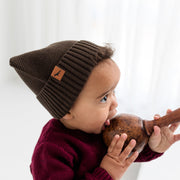 "Wild Island Co ""Thylacine"" Knitted Baby Beanie, Wild Island, walnut brown (0-2Y) Kids and Adults Quality Clothing Designed in Tasmania Australia 5"