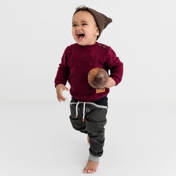 "Wild Island Co ""Thylacine"" Knitted Baby Beanie, Wild Island, walnut brown (0-2Y) Kids and Adults Quality Clothing Designed in Tasmania Australia 6"