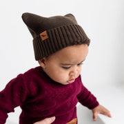 "Wild Island Co ""Thylacine"" Knitted Baby Beanie, Wild Island, walnut brown (0-2Y) Kids and Adults Quality Clothing Designed in Tasmania Australia 9"