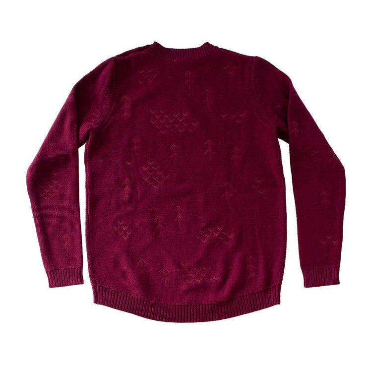Wild Island Co Mens/Womens Jumper, cotton knitted pullover, Wild Island, Burgundy Red Kids and Adults Quality Clothing Designed in Tasmania Australia 3