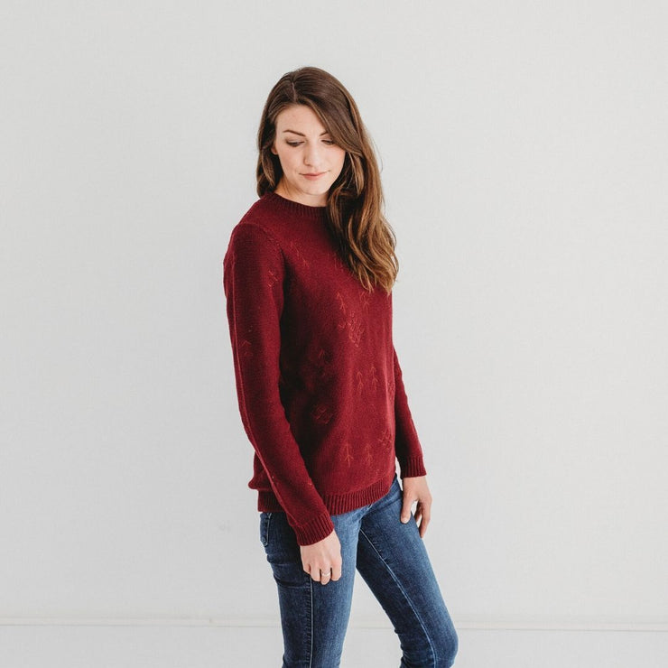Wild Island Co Mens/Womens Jumper, cotton knitted pullover, Wild Island, Burgundy Red Kids and Adults Quality Clothing Designed in Tasmania Australia 5