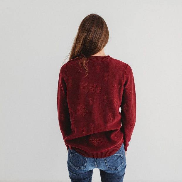 Wild Island Co Mens/Womens Jumper, cotton knitted pullover, Wild Island, Burgundy Red Kids and Adults Quality Clothing Designed in Tasmania Australia 6