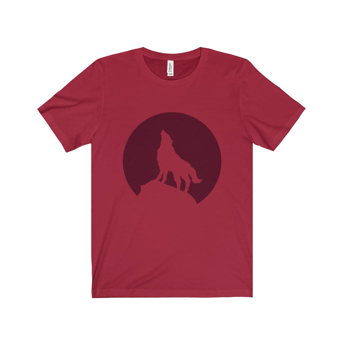 Unisex Howling Wolf Short Sleeve Tee