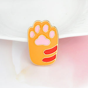 Cat Paw Brooch Pins