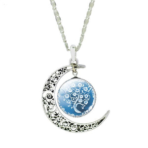Crescent Moon & Tree Pendant