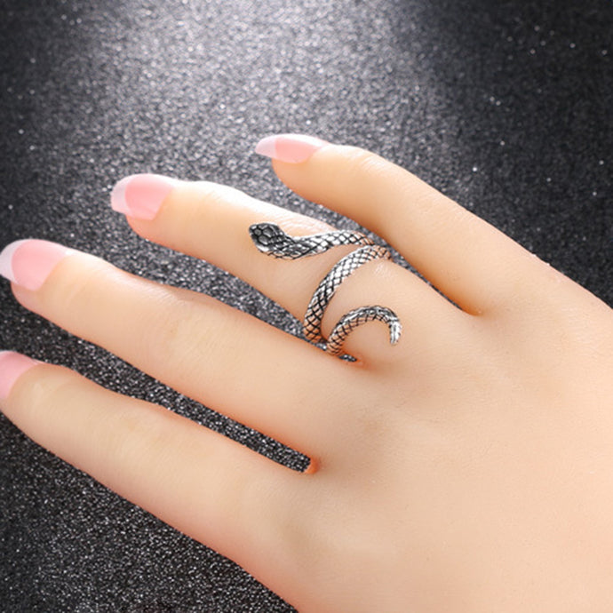 Sterling Silver 'Serpin the Snake' Ring