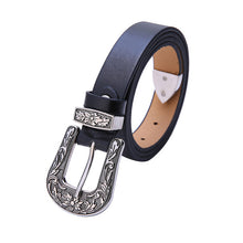 Black Leather Cowgirl Belt