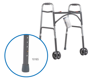 "Heavy Duty Bariatric Walker with 5"" Wheels"