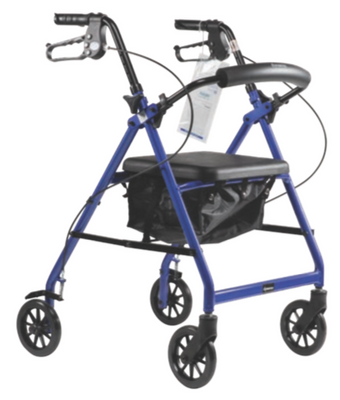 DynaGo Quad 6 - Aluminum Rollator with 6