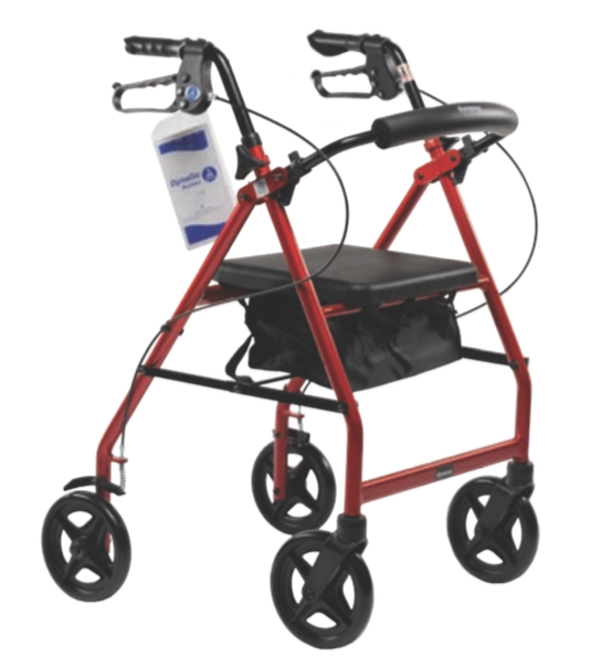 DynaGo Quad 8 - Aluminum Rollator with 7.5