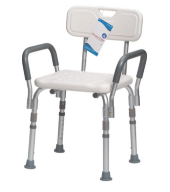 Shower Chair with Removable Back and Arms