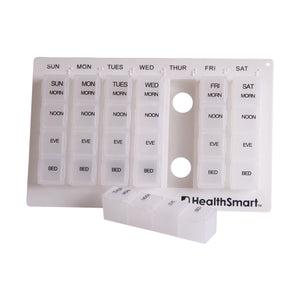 HealthSmart® Weekly Pill Organizer Medication Planner