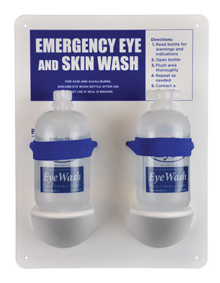Eye Wash Station w/2 - 16oz Filled Eye and Skin Wash