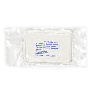 "3"" Compress Bandages Sterile - Ideal pressure bandages for first aid and field use"