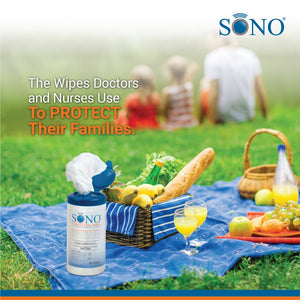 SONO Disinfecting Wipes Canisters Kills 99.9% of Germs, Medical Grade for Home Use, 80 Count