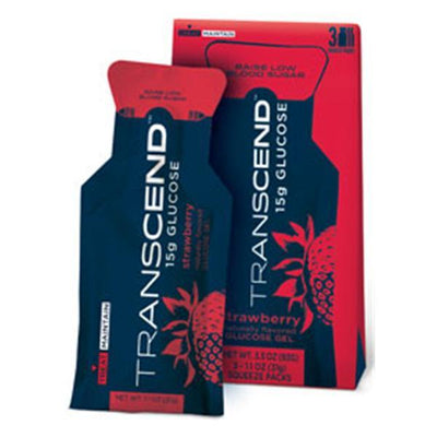Transcend Strawberry 15g Gel Squeeze Pouch 3/Pk