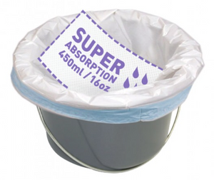 CareBag® Commode Liner with Super Absorbent Pad