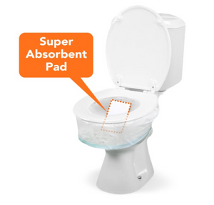 CareBag® Toilet Bowl Liner with Super Absorbent Pad